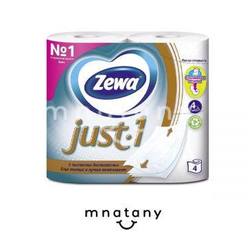 Zewa Just1 Toilet Paper 4pcs.